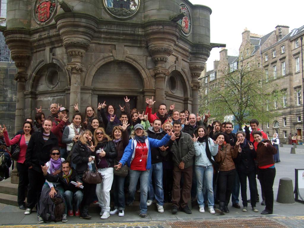 Grupo Free Tour en Edimburgo
